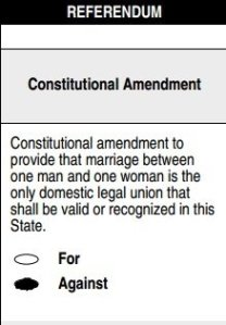 Vote Against Amendment One on May 8, 2012